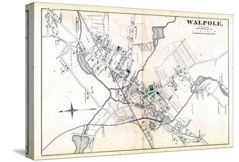 1876, Walpole Town, Massachusetts, United States--Stretched Canvas Print