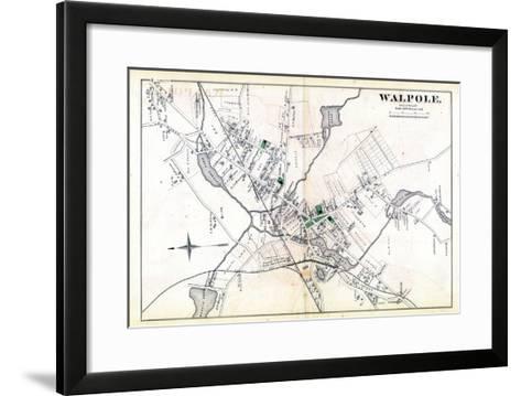 1876, Walpole Town, Massachusetts, United States--Framed Art Print