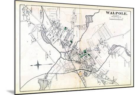 1876, Walpole Town, Massachusetts, United States--Mounted Giclee Print