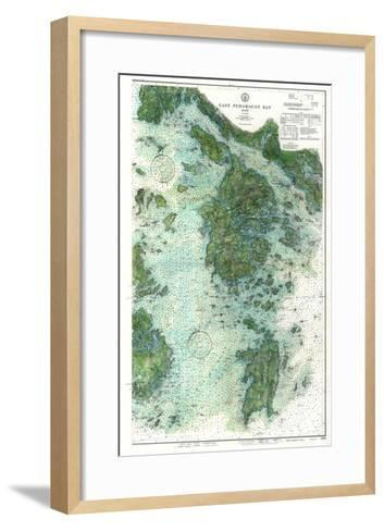 1910, East Penobscot Bay Chart with Background, Maine, Unit--Framed Art Print