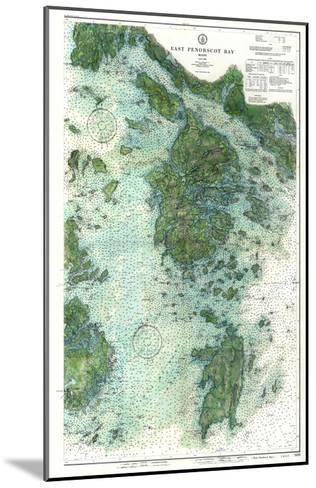 1910, East Penobscot Bay Chart with Background, Maine, Unit--Mounted Giclee Print