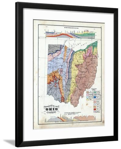 1875, Ohio State Geological Map, Ohio, United States--Framed Art Print