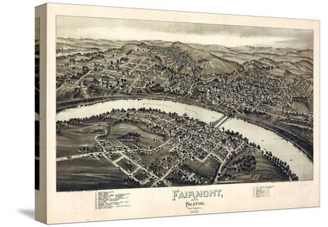 1897, Fairmont and Palatine Bird's Eye View, West Virginia, United States--Stretched Canvas Print