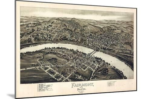 1897, Fairmont and Palatine Bird's Eye View, West Virginia, United States--Mounted Giclee Print