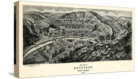 1911, Keystone Aero View 17x29, West Virginia, United States--Stretched Canvas Print
