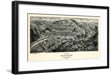 1911, Keystone Aero View 17x29, West Virginia, United States--Framed Art Print