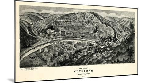 1911, Keystone Aero View 17x29, West Virginia, United States--Mounted Giclee Print