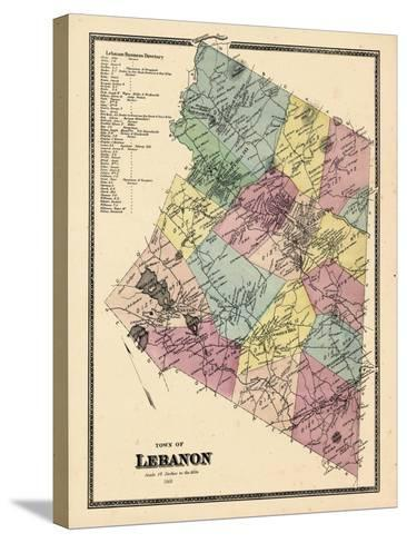 1868, Lebanon Town, Connecticut, United States--Stretched Canvas Print