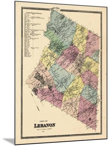 1868, Lebanon Town, Connecticut, United States--Mounted Giclee Print