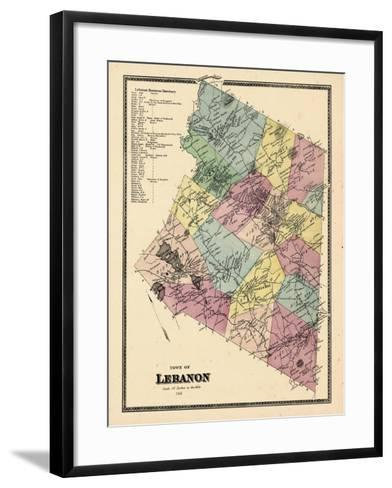 1868, Lebanon Town, Connecticut, United States--Framed Art Print