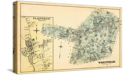 1876, Wrentham, Plainville Town, Massachusetts, United States--Stretched Canvas Print