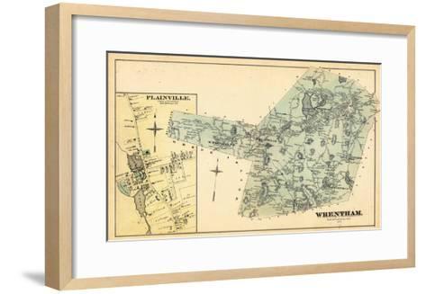 1876, Wrentham, Plainville Town, Massachusetts, United States--Framed Art Print