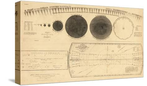 1835, Solar System - Magnitudes and Distance--Stretched Canvas Print