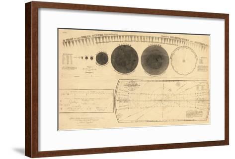 1835, Solar System - Magnitudes and Distance--Framed Art Print