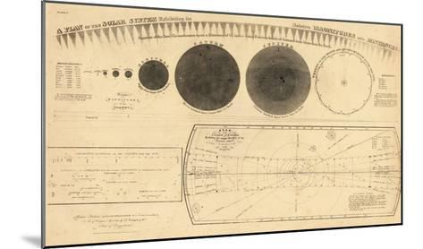 1835, Solar System - Magnitudes and Distance--Mounted Giclee Print