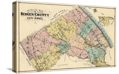 1876, Bergen County, New Jersey, United States--Stretched Canvas Print