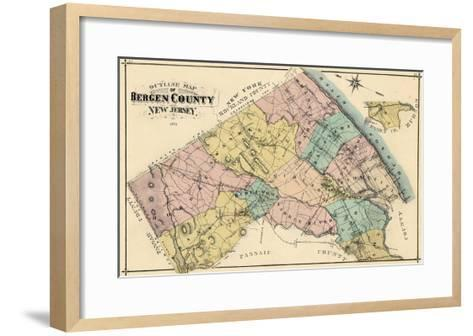 1876, Bergen County, New Jersey, United States--Framed Art Print