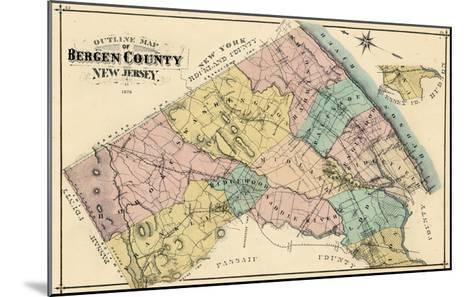 1876, Bergen County, New Jersey, United States--Mounted Giclee Print