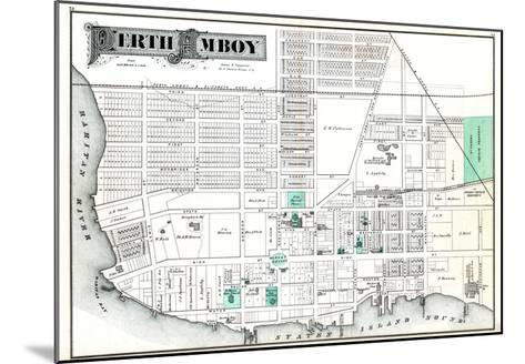 1876, Perth Amboy, New Jersey, United States--Mounted Giclee Print