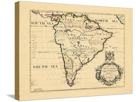 1701, South America--Stretched Canvas Print
