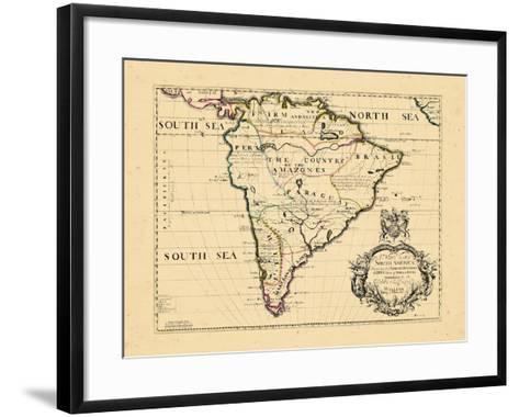 1701, South America--Framed Art Print