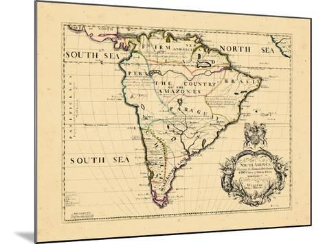 1701, South America--Mounted Giclee Print