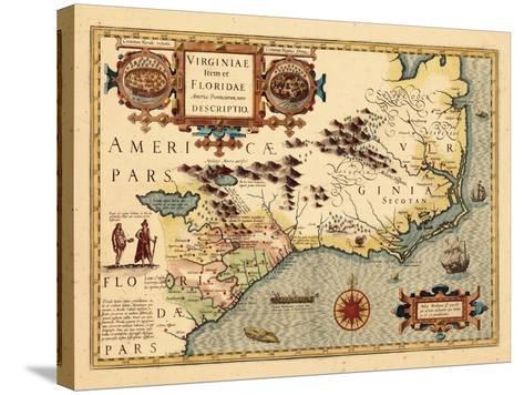 1619, South Carolina, North Carolina, Florida, Georgia, Virginia--Stretched Canvas Print