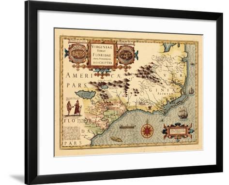1619, South Carolina, North Carolina, Florida, Georgia, Virginia--Framed Art Print