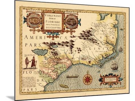 1619, South Carolina, North Carolina, Florida, Georgia, Virginia--Mounted Giclee Print