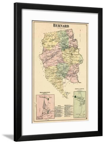 1873, Bernard, Bernardsville, Liberty Corner, New Jersey, United States--Framed Art Print