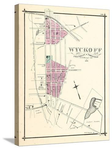 1876, Wyckoff, New Jersey, United States--Stretched Canvas Print
