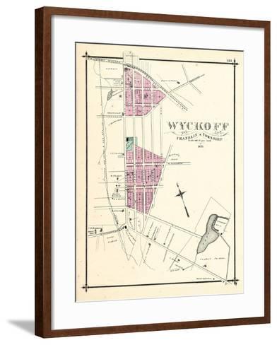 1876, Wyckoff, New Jersey, United States--Framed Art Print