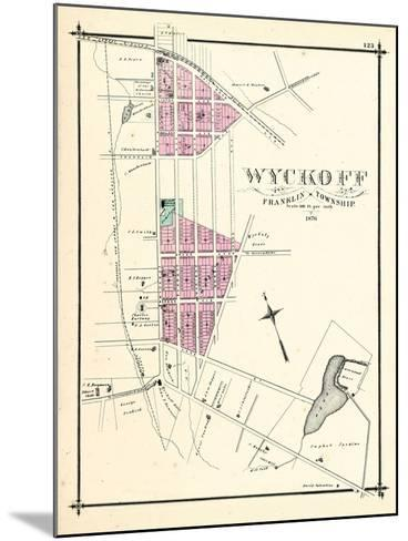 1876, Wyckoff, New Jersey, United States--Mounted Giclee Print