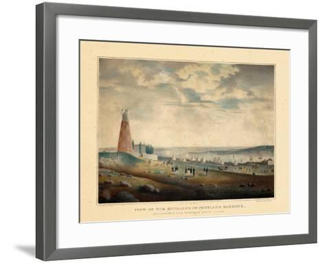 1830, Portland Harbour, Maine--Framed Art Print