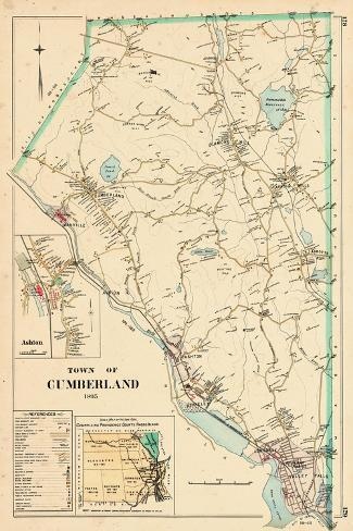 1895, Cumberland Town, Rhode Island, United States--Stretched Canvas Print