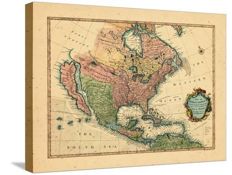 1744, North America--Stretched Canvas Print