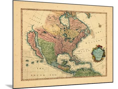 1744, North America--Mounted Giclee Print