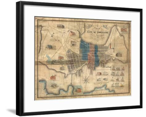 1836, Portland, Maine--Framed Art Print