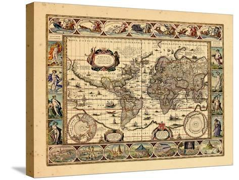 1640, World--Stretched Canvas Print