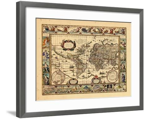 1640, World--Framed Art Print