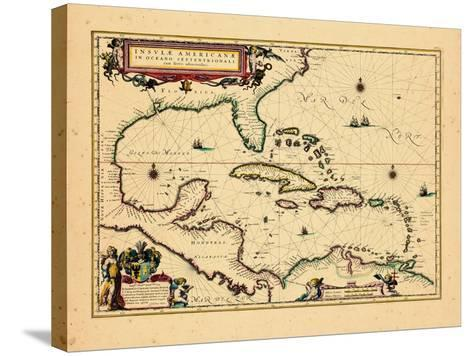 1640, West Indies, Florida, Central America--Stretched Canvas Print