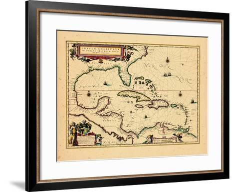 1640, West Indies, Florida, Central America--Framed Art Print