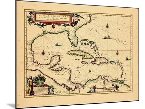 1640, West Indies, Florida, Central America--Mounted Giclee Print