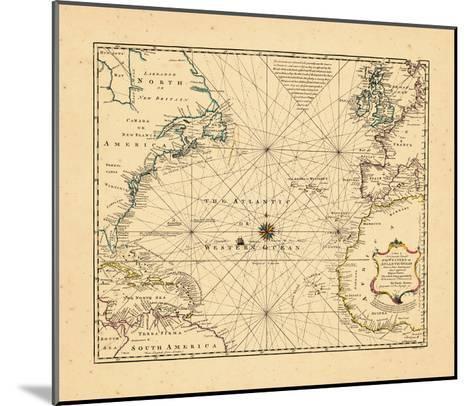 1748, Atlantic Ocean--Mounted Giclee Print