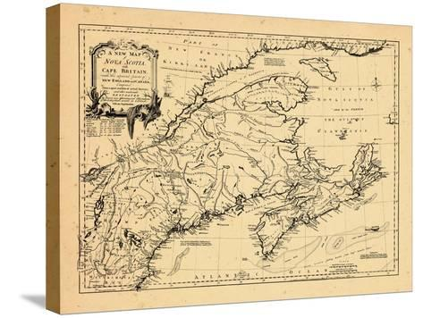 1755, New Brunswick, Massachusetts, Nova Scotia, Maine, Newfoundland and Labrador, New Hampshire--Stretched Canvas Print