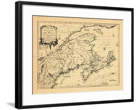 1755, New Brunswick, Massachusetts, Nova Scotia, Maine, Newfoundland and Labrador, New Hampshire--Framed Art Print