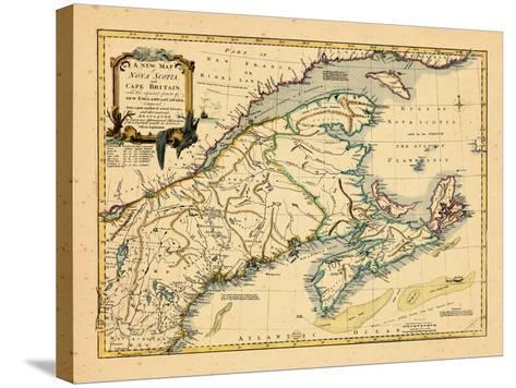 1755, New Brunswick, Nova Scotia, Prince Edward Island, Maine Massachusetts--Stretched Canvas Print