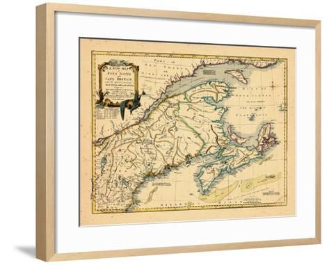 1755, New Brunswick, Nova Scotia, Prince Edward Island, Maine Massachusetts--Framed Art Print