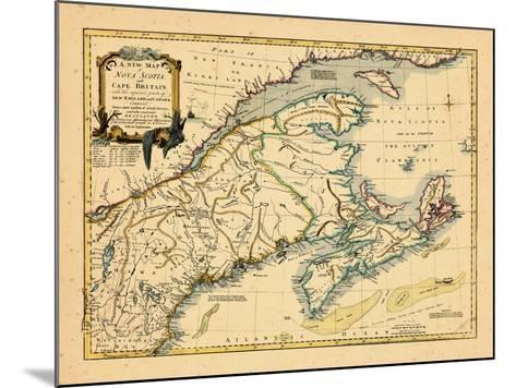 1755, New Brunswick, Nova Scotia, Prince Edward Island, Maine Massachusetts--Mounted Giclee Print