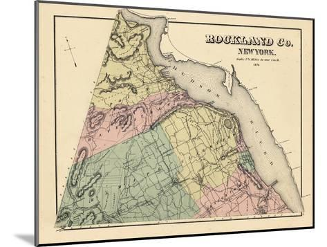 1876, Rockland County, New York, United States--Mounted Giclee Print